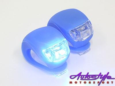 Universal Silicon & LED Bicycle Flashing Light (pair)-19034