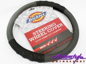 Dickies Design Steering Wheel Cover with Rubber Grip-0