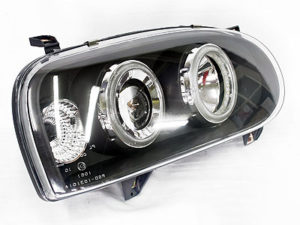 VW Golf Mk3 Angel Eye Black Headlights (pair)-0
