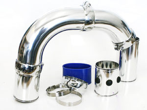 Universal Chrome Pipe Air Induction Kit-0