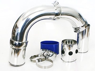 Universal Chrome Pipe Air Induction Kit