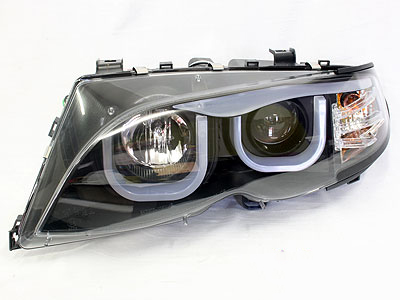 Suitable for E46 U-Shape LED Headlights (black)