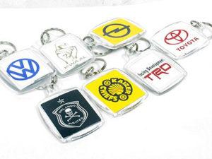 Assorted Plastic Logo Keyrings-0