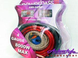 Powerbass 4gauge Car Audio Wiring Kit-0