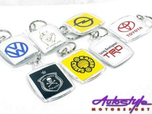 Assorted Plastic Logo Keyrings-0