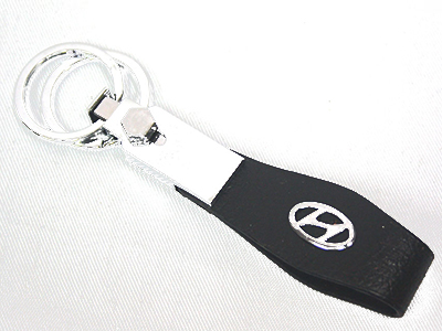 Leather & Chrome Hyundai Keyring
