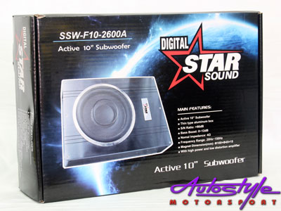 """Starsound Compact Size Amplified 10"""" Subwoofer Kit-20146"""
