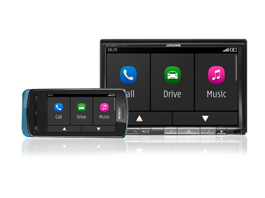 Alpine 8″ Double Din DVD with Navigation