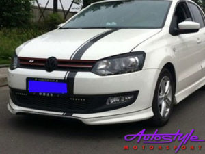 VW Polo 6R 2010-2013 Plastic Front Spoiler-0