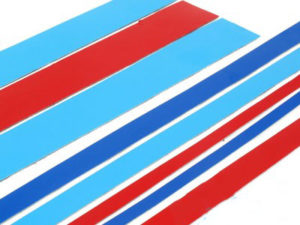 Red & Blue Vinyl Sticker Striping Kit-0