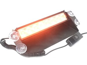 NX LED Amber Orange Dashmount Emergency Strobe Light-0