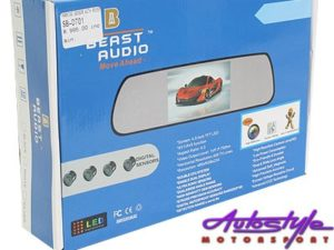 Rearview Mirror with Park Distance & Screen-20492