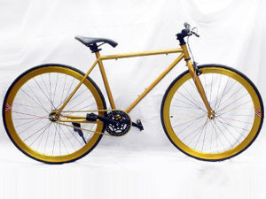 Gold & Black Retro Fixie Bicycle-0