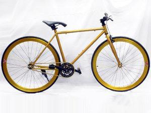 Gold & Black Retro Fixie Bicycle-0