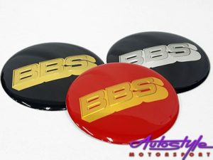 BBS Wheel Decal Center Cap Stickers 60mm (set of 4)-0