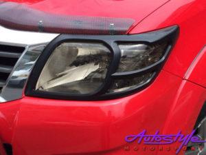 Toyota Hilux Matt Black Headlight Trim (2011up)-0