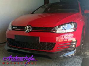 VW Golf Mk7 Gti Carbon Fibre Front Spoiler-0
