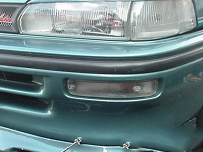 Toytoa E8E9 2Slot Bumper Clear Indicator Lens (right)