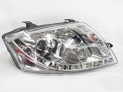 Audi TT 99-06 DRL Chrome Headlights (pair)