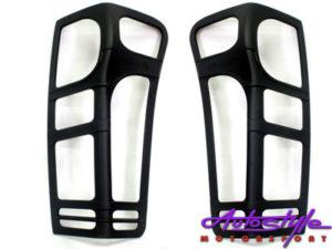 Isuzu 2013 D-Max Matt Black Tailight Covers-0