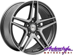 """18"""" A-Line Jagged 5/112 GMMF 42offset Alloy Wheels-0"""
