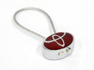 Toyota Logo & Rubber Rope Keyring-0