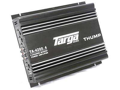 Targa Thump Series 5000w 4channel Amplifier
