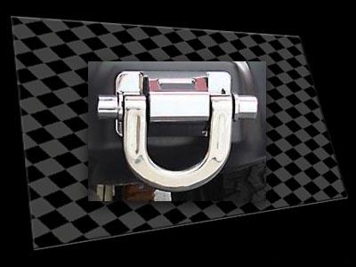 Hummer H3 Matt Black Tow Hook Panel