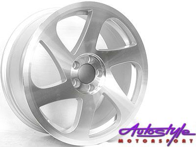 "17"" 3SDM Twist Silver 5/114 Alloy Wheels-0"