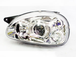 Opel Corsa Chrome Side LED Headlights (pair)-0