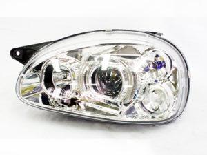 Opel Corsa Chrome Side LED Headlights (pair)-0