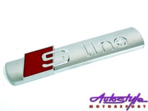 Audi S-Line Satin Silver Sticker Badge -0