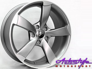 "18"" RS3 Style 5/112 Matt Grey Alloy Wheels-0"