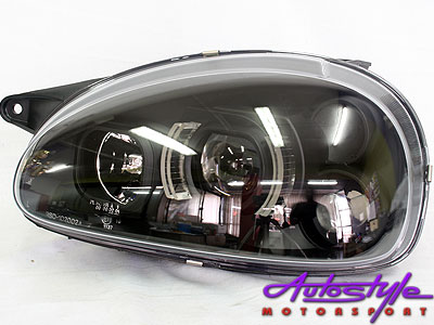 Opel Corsa Black-Out Side LED Headlights (pair)