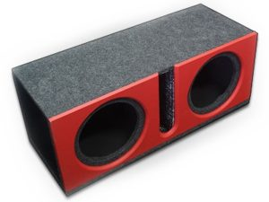"10"" Double Subwoofer Enclosure Ported with Vinyl-0"