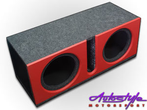 """10"""" Double Subwoofer Enclosure Ported with Vinyl-0"""