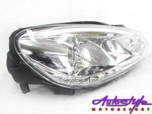VW Golf MK6 DRL Chrome Headlights-0