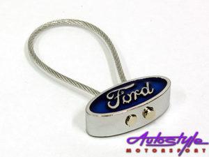 Ford Logo & Rubber Rope Keyring-0
