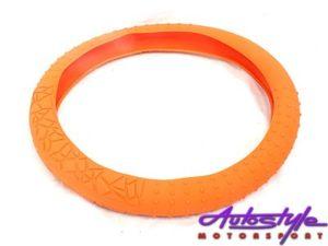 NX Silicon Steering Wheel Cover (orange)-0