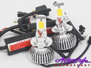 LED H4 Pure White Headlight Bulb Kit-22027