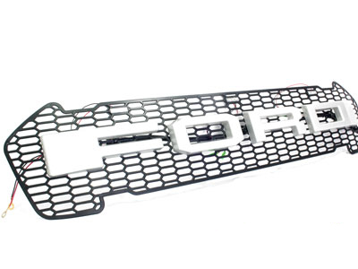 Ford Ranger 2016up Mesh Grill with Silver Logo