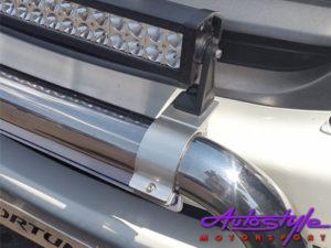 Universal Satin Black Bar Bracket for Spotlamps 66mm (pair)-22198