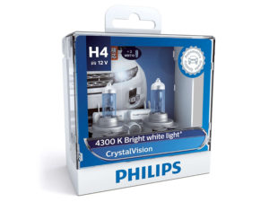 Philips H4 55w CrystalVision Headlight Bulbs-0