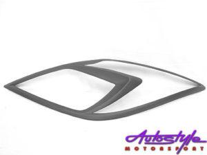 Mazda BT-50 Matt Black Headlight Trim Covers (2013up)-0