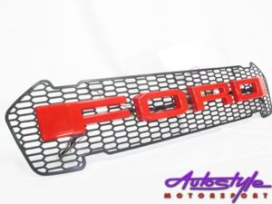 Ford Ranger 2016up Mesh Grill with Red Logo-0