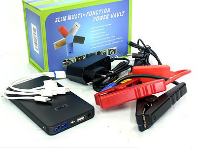 Slimline Multi-Function PowerBank & Booster Kit (8000mah)-0
