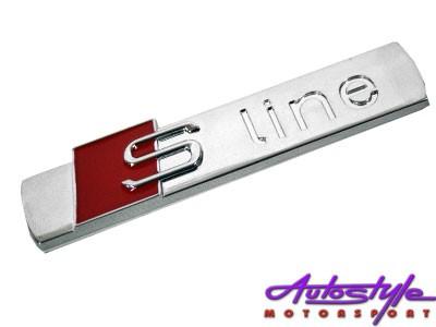 Audi S-Line Chrome Fender Badges (each)-0