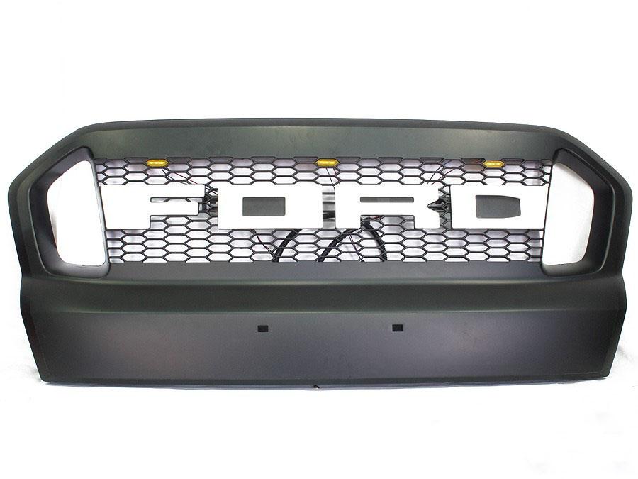 Ford Ranger 2016up LED & White Ford Logo Grille Kit