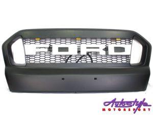 Ford Ranger 2016up LED & White Ford Logo Grille Kit-0