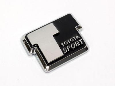 Toyota Sport Black & Chrome Badge
